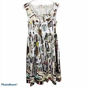 kate spade havana cityscape flare dress 2